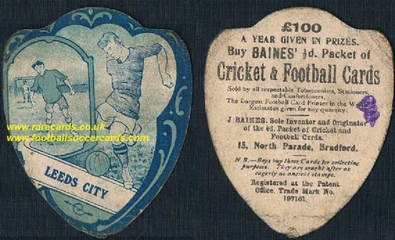 1900 Leeds City F.C. antique card by Baines of Bradford